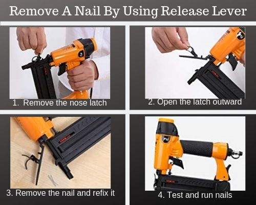 Remove a nail with release lever