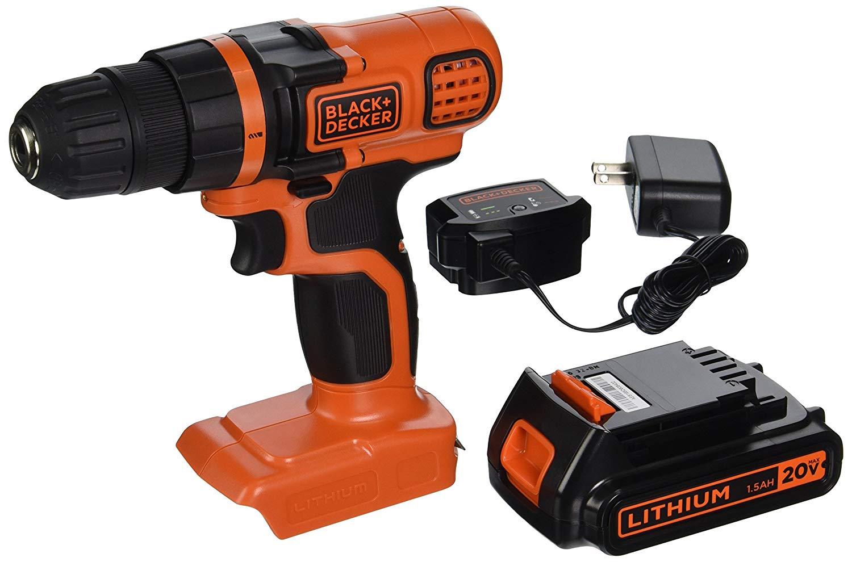 black+decker ldx120c 20v max lithium ion drill