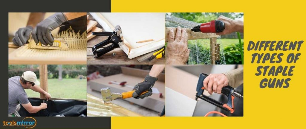 Different types of staple guns