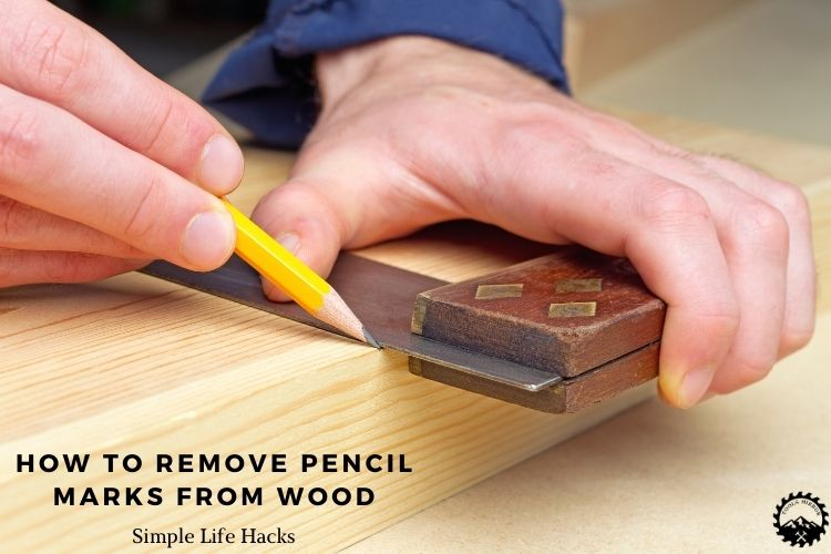 How to remove pencil marks from wood