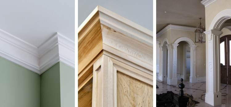 Uses of crown molding in different locations