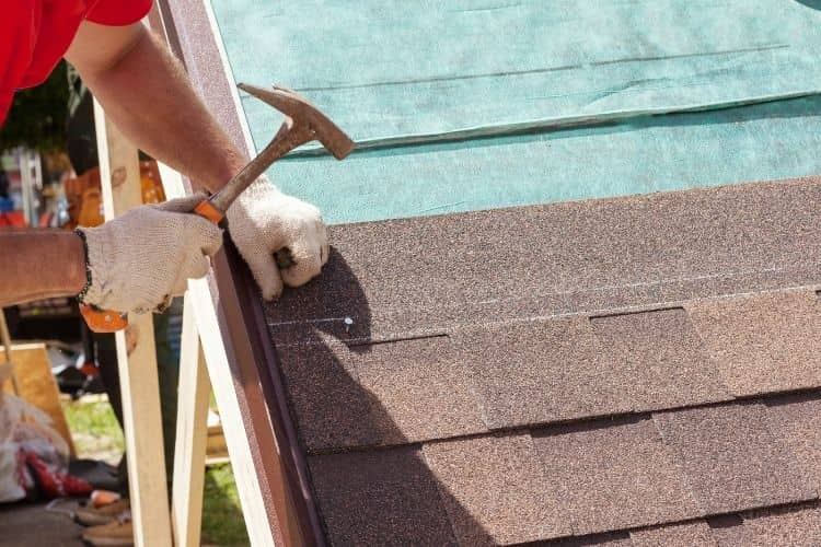 attaching roofing shingles with a hammer